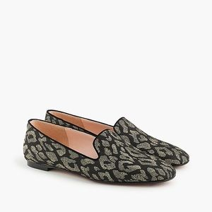 NWOB J. Crew Leopard Smoking Flat Loafers